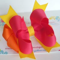 Stacked Boutique Hair Bow on Luulla