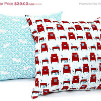 "SALE 40% OFF Chairs Decorative pillow - Set of two 18x18"" pillow cover"