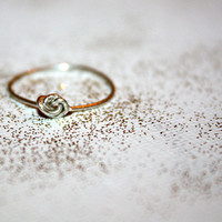 silver nodu - lovely sterling silver knot ring by lilla stjarna - ft. 14 sterling silver wire - gifts under 25