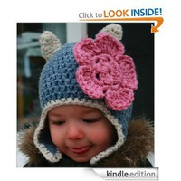 Crochet pattern, baby cat beanie hat with earflaps includes 4 sizes from baby to adult (Crochet Animal hats): Luz Mendoza: Amazon.com: Kindle Store