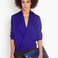 Twisted Blouse - Royal Blue in  What's New at Nasty Gal