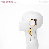 ON SALE  15 OFF  Winged Ear Cuff  Blade Wing Earring by HaremRoyal