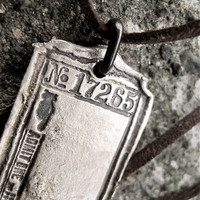 Custom SILVER Vintage Ticket Dog Tag by skykoltun on Etsy