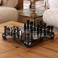 Auto part chess set - Recycling Challenge - NOVICA