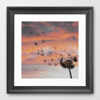 And the days went by Framed Art Print | Print Shop