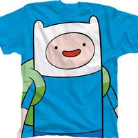 Bioworld 6−14 Adventure Time With Finn T−Shirt BLUE X−Large 12−14