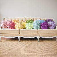 Custom color ruffle rose pillow SMALL  as by thatfunkyboutique