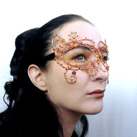 Copper wire vine masquerade mask, ladies, handmade