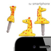 Plugy Zoo Earphone Jack Accessory (Giraffe)