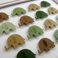 Woodland Forest 3D Baby Elephant Whimsy by aboundingtreasures