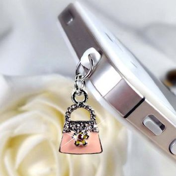 Purse Shape Charm (RECH-004001-1) Dust Plug / Earphone Jack Accessory / Ear Cap / Ear Jack for Ipho