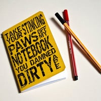 "Handmade notebook ""Damned dirty ape"" Yellow journal"