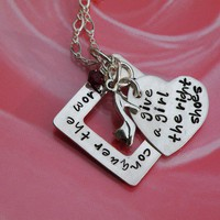 Give a Girl the Right Shoes Necklace by FireweedImpressions