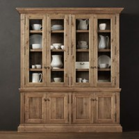 Salvaged Wood Wide Sideboard & Hutch | | Restoration Hardware