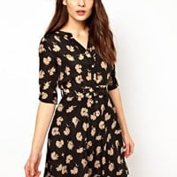 NW3 Silk Dress in Flower Print at asos.com