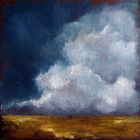 Thunderstorm cloud big sky landscape plains by Stormscapestudio