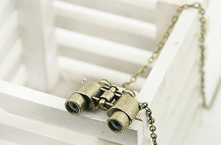 Vintage Telescope Pendant Long Chain Necklace