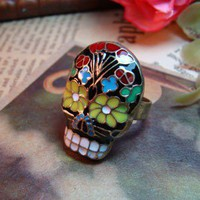 Fashion Adjustable Colorful Face Ring Gofavor