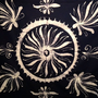 Navy Batik Floral Tapestry Double