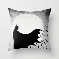 Knight Rising from the Dark Throw Pillow by UvinArt | Society6