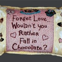 "Amazon.com: Forget Love Fall in Chocolate Dessert Cupcake Decorative Throw Pillow 9"" x 12"": Home & Kitchen"