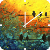 DENY Designs Home Accessories | Madart Inc. Birds Of A Feather Custom Clock