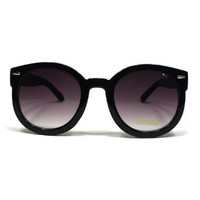 Amazon.com: Fashion Vintage Round Thick Horn Style Sunglasses: Black: Clothing