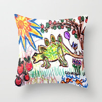 :: Levi's Dinotopia ::  Throw Pillow by GaleStorm Artworks | Society6