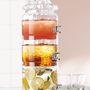 Stacked Optic-Glass Beverage Server - Horchow
