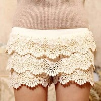 Layered Lace Shorts