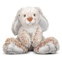 "Amazon.com: Melissa & Doug Princess Soft Toys 14"" Plush Burrow Bunny: Toys & Games"