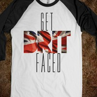 Get Brit Faced Baseball Tee