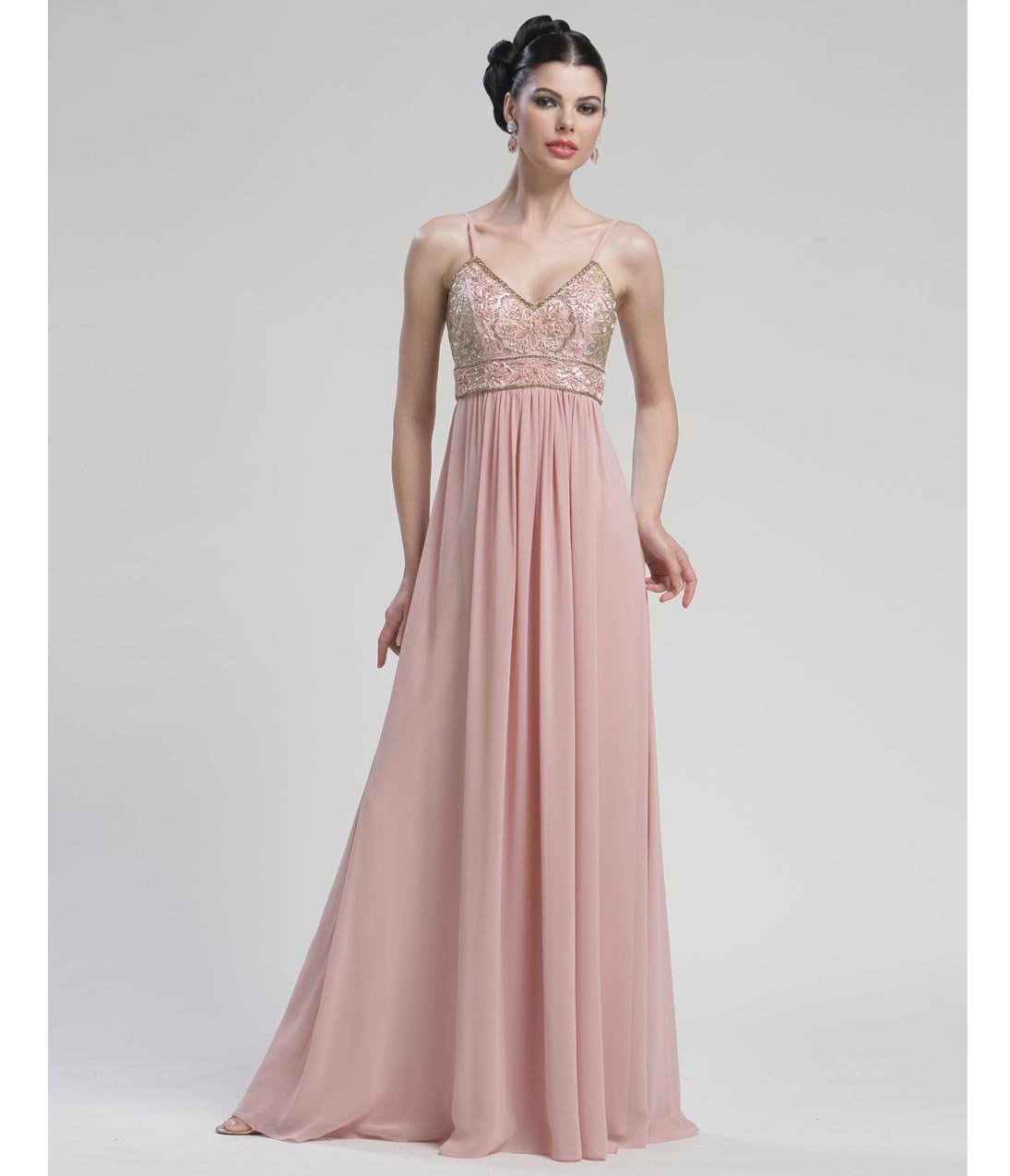 Grecian Prom Dresses 2013 Grecian Rose Empire Wa...