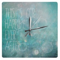 this is our happily ever after clock from Zazzle.com