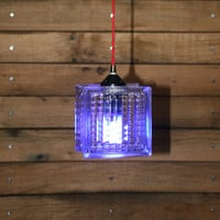 Glass Block Pendant Light - Hanging Glass Pendant Light