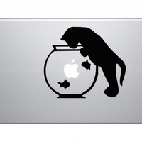 Cat Fishes Macbook Sticker Decal Art Vinyl For Apple Macbook Pro Air / iPad J129