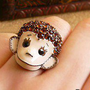 Lovely Rhinestone Monkey Animal Ring at online cheap fashion jewelry store Gofavor