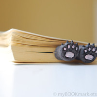 Cat paws .Bear paws in the book. Funny gift. Cat in book for child, children, kids, for her, all, hostess. oht