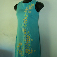 Vintage Turquoise Shift Dress
