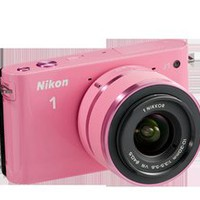 Nikon Store - Nikon 1 J1 - Two Lens Zoom Kit in Pink