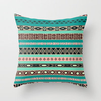 Aztec Tribal Pattern Throw Pillow by Rex Lambo | Society6