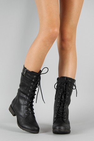 denver 18 lace up mid calf boot from urbanog