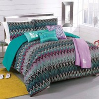 Amazon.com: Roxy Tribal Dash Comforter Sham Body Pillow Throw Bedding Set: Home &amp; Kitchen