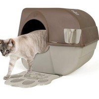 Omega Paw Self-Cleaning Litter Box, Green and Beige