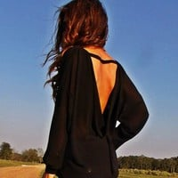 Open Back Black