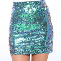 Splash Sequin Mini Skirt