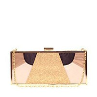 ASOS | ASOS Colour Block Satin & Glitter Clutch at ASOS