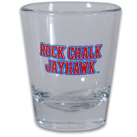 Kansas Jayhawks Kansas Rock Chalk Collectors Glass