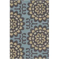 Amy Butler Wallflower Rug - Blue at Velocity Art And Design - Your home for modern furniture and accessories in Seattle and the US.