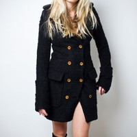 Smythe | Black Double-Breasted Wool Coat - Shop the hottest labels online: APROPOS-STORE.COM